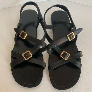 Yves Saint Laurent Black Strappy Sandal Size 41